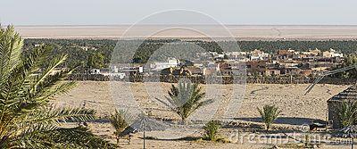 Small town Nafta in oasis at Sahara desert in Tunisia