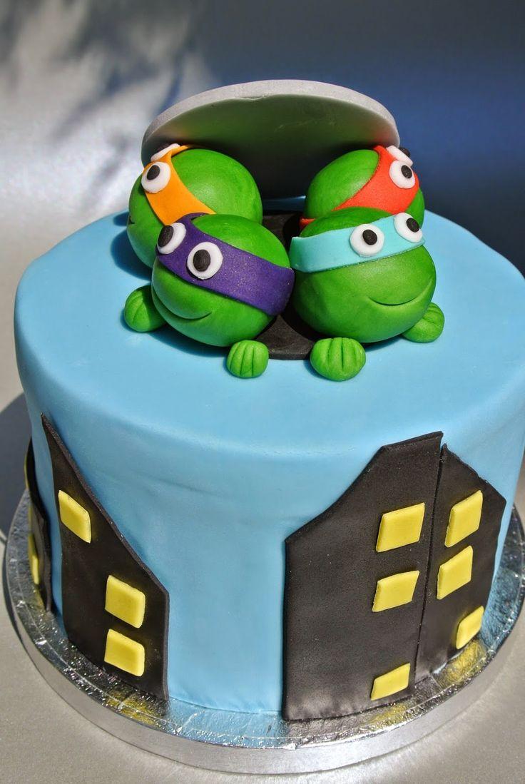 ninja turtles, Turtles Cake, Ninja turtles cake, Torte ninja turtles, Tarta tortuga, Geburtstagstorte, Torte für jungs, Torte jungs