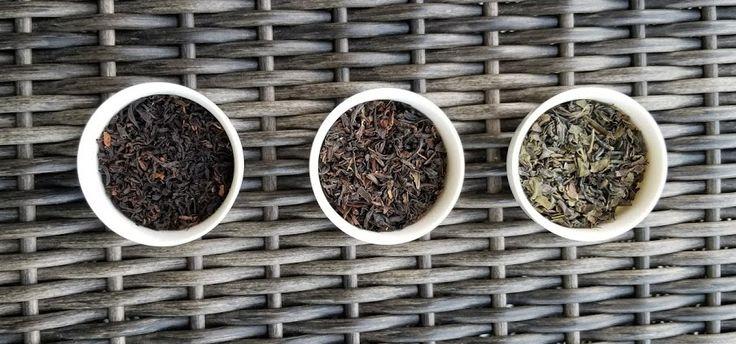 Left to Right: Orange Pekoe. Broken Leaf. Hysson.  Tea Trilogy. Teazorean Sampler Set.   Enjoy :)