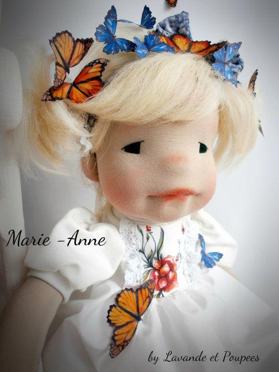 Waldorf Doll Marie-Anne 22.5 OOAK handmade by Lavandeetpoupees