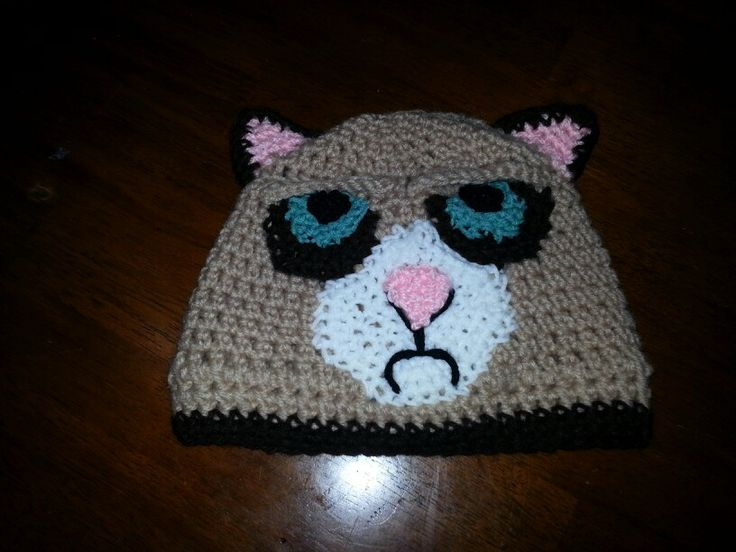 grumpy cat hat my crochet work pinterest grumpy cat. Black Bedroom Furniture Sets. Home Design Ideas