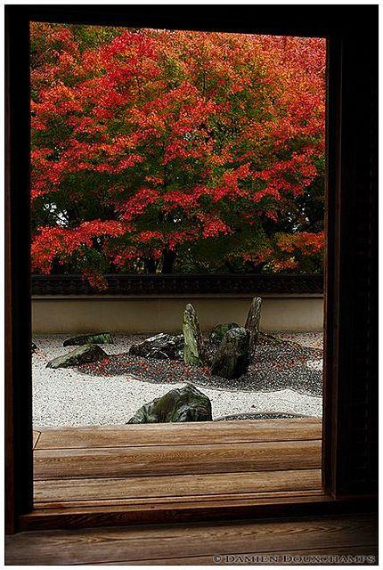 Rock garden in autumn, Ryogin-an temple (龍吟庵), Kyoto