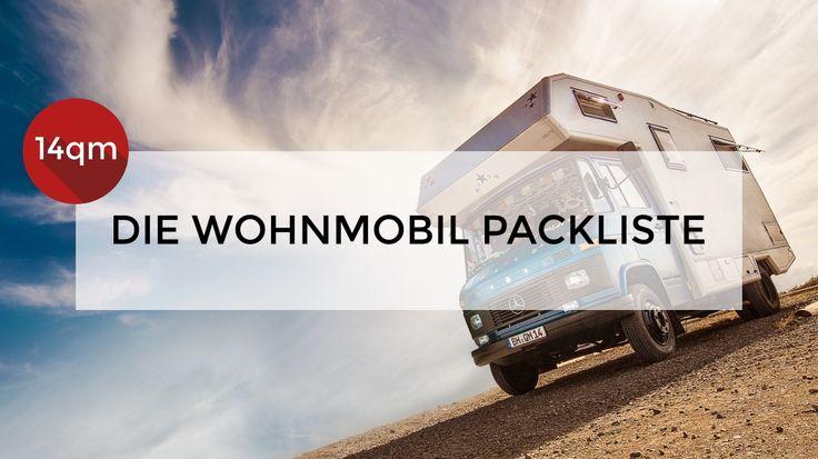 Auf einen Blick, alles was du brauchst, wenn du mit dem Wohnmobil unterwegs bist. Unsere ultimative Wohnmobil Packliste, die immer aktualisiert wird.