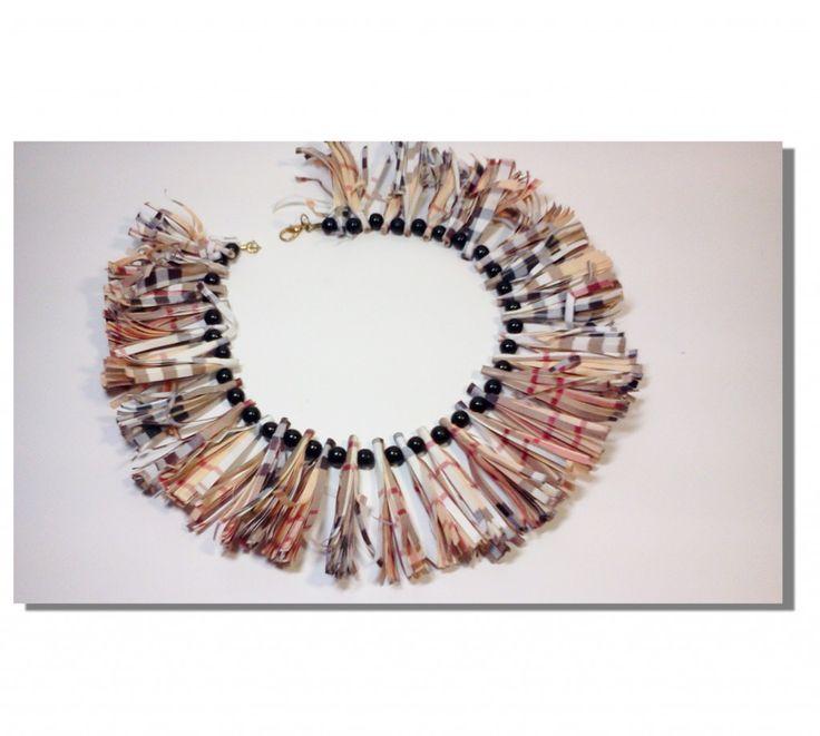 collana burberry #paper #jewellery #gioielli di #carta