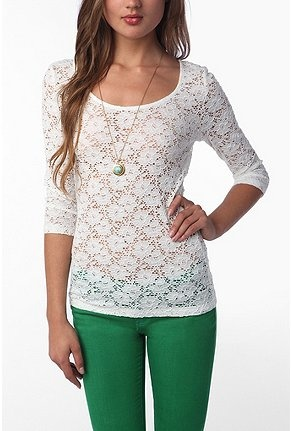 Obsessed: Colored Pants, Lace Tops, Fashion, Style, Sleeve Lace, Green Pants, Colored Jeans