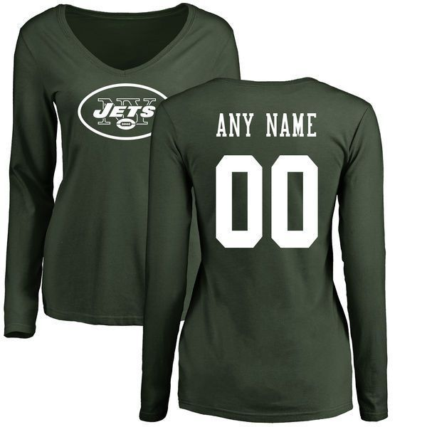 watch 94ce2 30cbe Women New York Jets NFL Pro Line Green Custom Name and ...