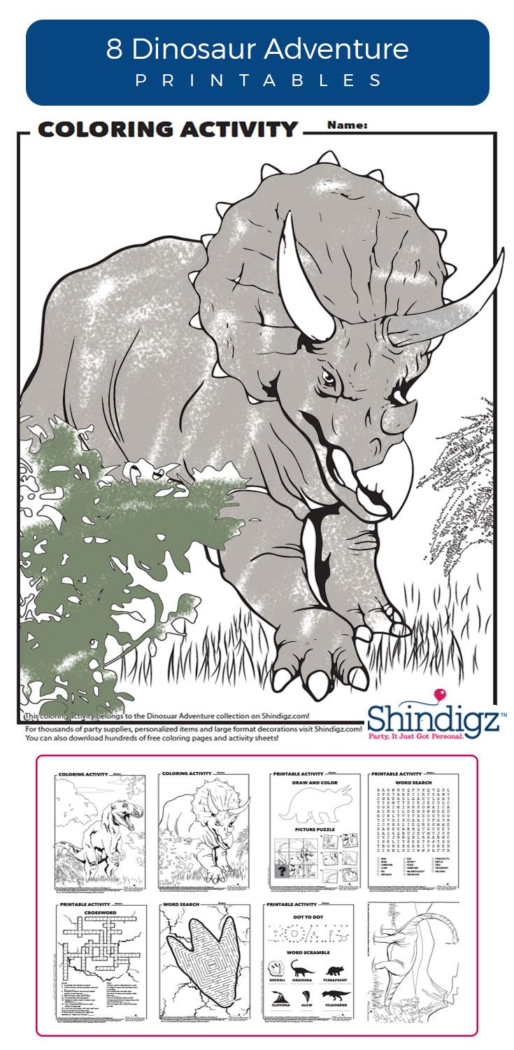 Free coloring pages camping theme - Free Dinosaur Printables Coloring Pages Shindigz