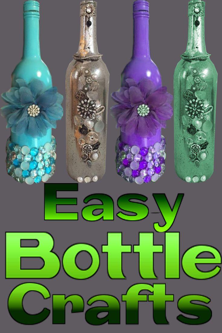 Empty Bottle Glass Jar Crafts Creations Avec Bouteille De Vin