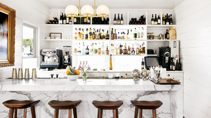 Josephine Restaurant in Austin, TX with Carrara marble countertops // restaurant design