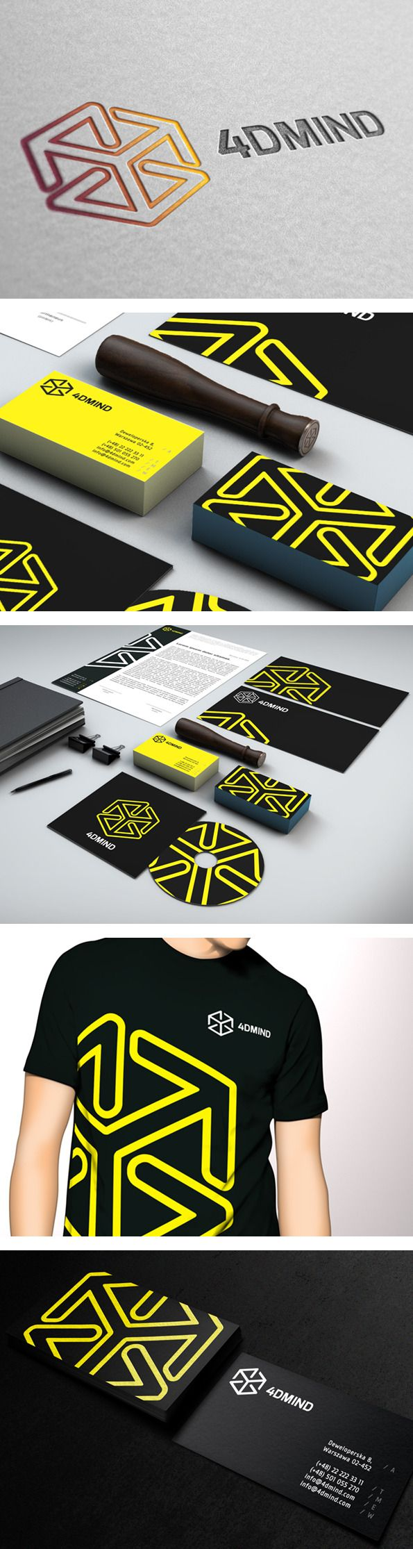 4DMIND identity by Elastika | #stationary #corporate #design #corporatedesign #identity #branding #marketing < repinned by www.BlickeDeeler.de | Visit our website: www.blickedeeler.de/leistungen/corporate-design