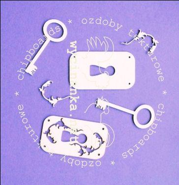 klucze i zamki, zestaw 4 WYCINANKA