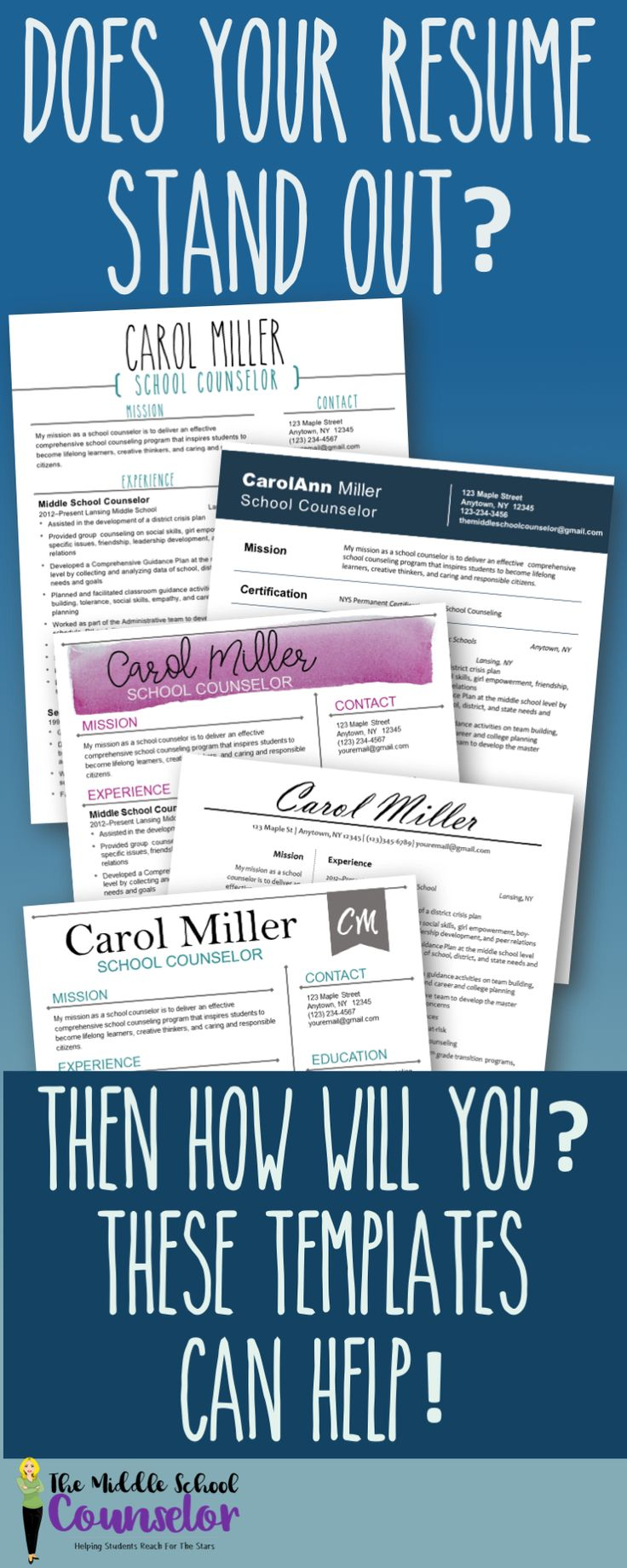 mental health counselor resume%0A Resume Templates For Counselors  Teachers and Therapists