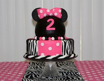 Minnie Mouse Birthday CakesMinnie Birthday, Mouse Birthday, Birthday Parties, Zebras Cake, Parties Ideas, Girls Birthday, Minnie Mouse Cake, Birthday Cake, Birthday Ideas