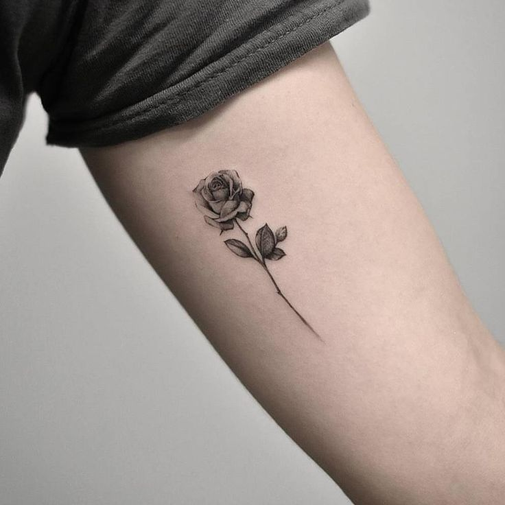 """6,205 Likes, 27 Comments – Small Tattoos (Yin-wen Chen.tattoos) on Instagram: """"Single needle #rose by @drag_ink · NYC """""""