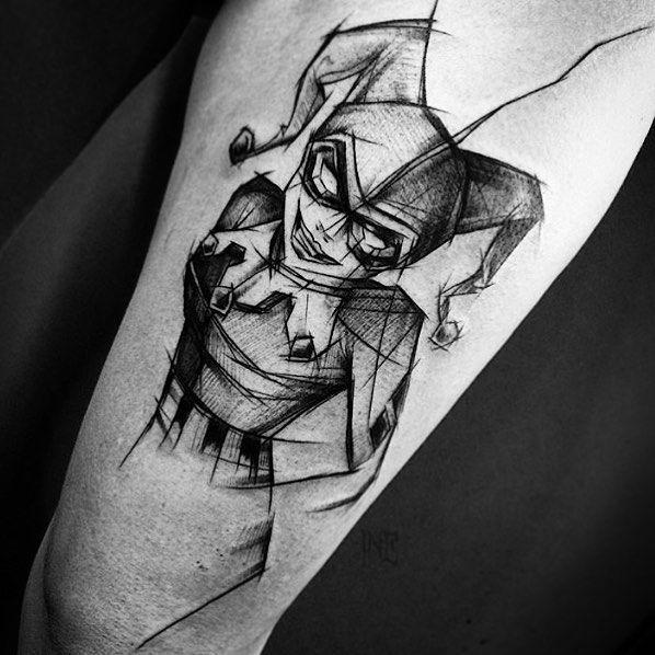 Harley Quinn tattoo Inez Janiak @ineepine Poland Contact: @ineepine via IG or FB by tattrx