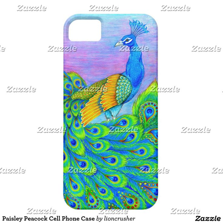 Paisley Peacock Cell Phone Case