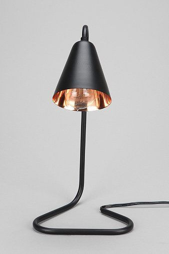 saucy black table lamp