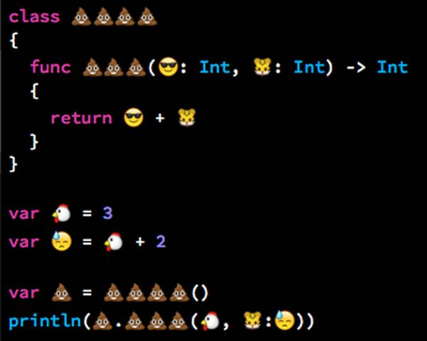 Apple's new Swift programming language will allow emoji characters in code WTF!