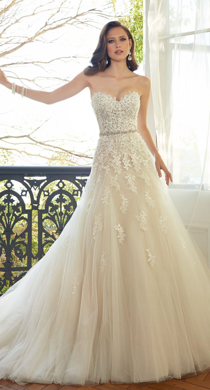 best ideas about sophia tolli wedding gowns sophia tolli wedding gown appliqueacutes cascading down from the bodice to the skirt