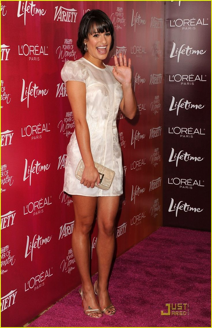 6. Go to a Glee concert. (Part B: Meet Lea Michele. I also really like her dress here)
