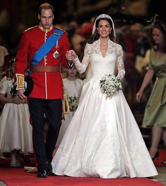 Descrizione abito da sposa kate middleton