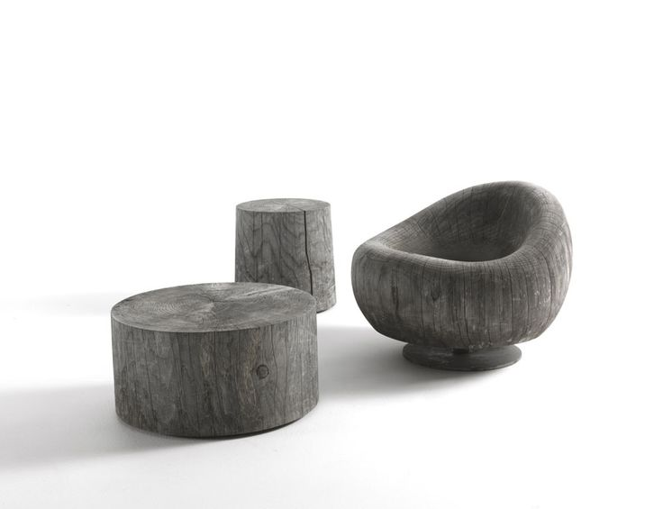 Maui Collection, Terry Dwan, 2008 The Maui series is in hand-finished natural scented cedar-wood and includes: armchair, coffee table and stool. The armchair is the lynch-pin of the series; this piece has a dramatic sculptural silhouette.  | @riva1920 #wood #natural #green #ecologic