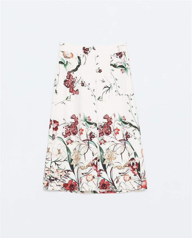 Image 6 of FRONT PLEAT PRINTED SKIRT from Zara