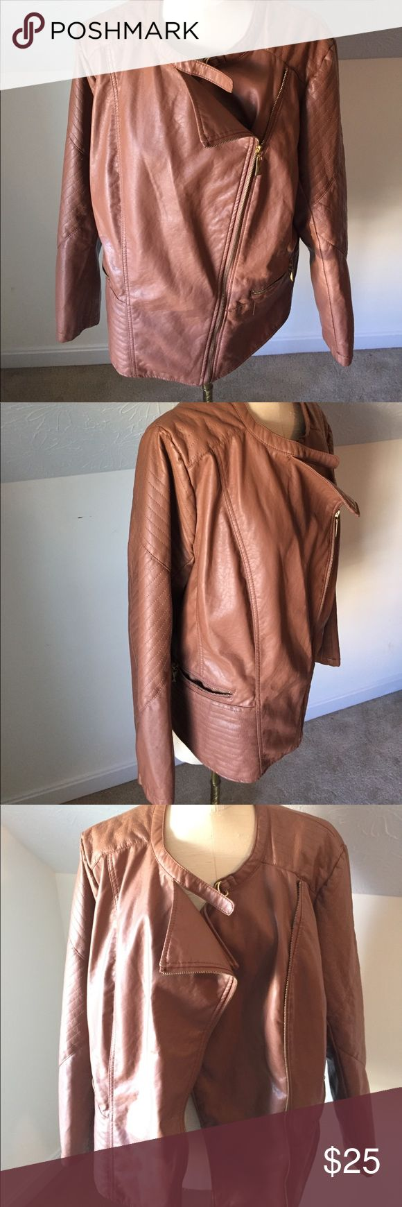 Faux leather 2X  jacket Faux leather 2X jacket, SO amazing, perfect condition Pimkie Jackets & Coats