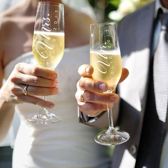 Juego de 2 Sr. Sra. boda tostado flautas flautas de champán