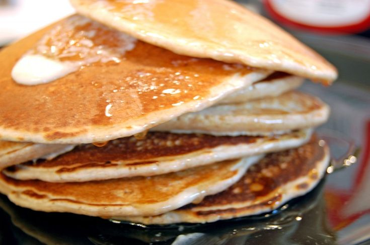 whole wheat pancakes (I feel like some pancake recipes have soooo many ...