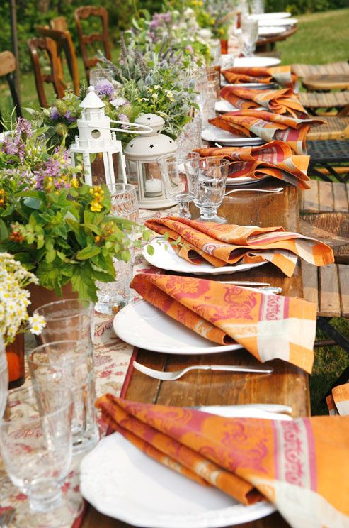 Wedding Rehearsal Dinner, Outdoor Dinner, Buffet, Rustic, Casual