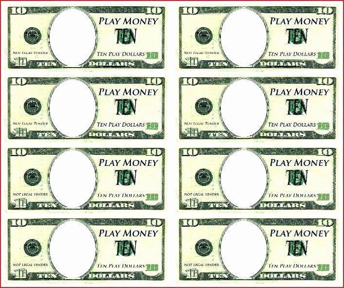 Custom Dollar Bill Template Awesome Play Money Template Play Money Template Printable Play Money Money Template