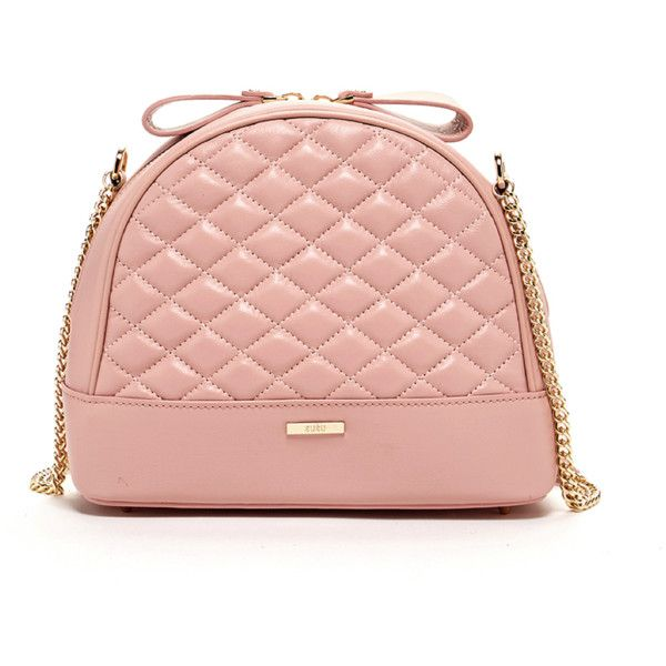 Susu France Quilted Lambskin Crossbody Bag Leather Purse Pink |... ($138) ❤ liked on Polyvore featuring bags, handbags, shoulder bags, pink, leather crossbody, leather crossbody purse, quilted hand bags, over the shoulder bags and leather shoulder bag