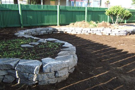 recycled concrete walls Retaining walls made out