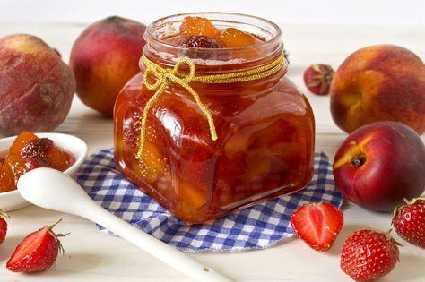 Ягодно-фруктовый джем из персиков, клубники и нектаринов. Пошаговый рецепт с фото - Ботаничка.ru