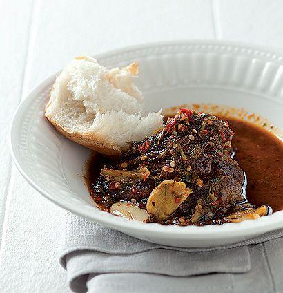 Peri-peri ostrich steak with crusty French loaf  (Taste Mag)