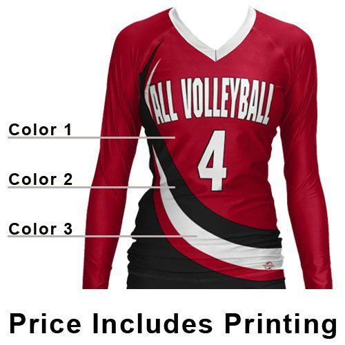 long sleeve volleyball jersey option (or just to wear) :)
