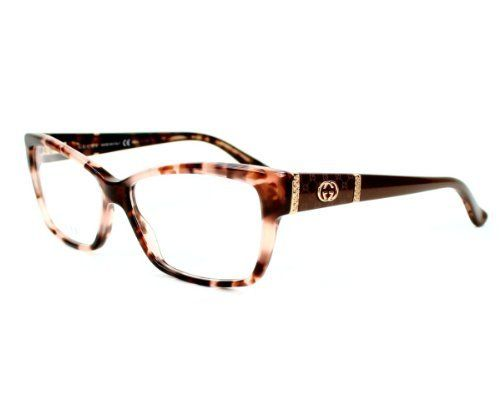 gucci eyeglasses frame gg 3559 l76 acetate rhinestones havana rose brown violet gucci - Womens Gucci Frames
