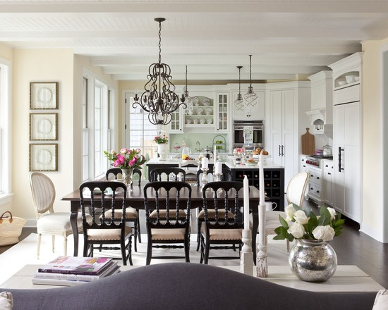 Open Concept Kitchen And Dining Room Spaces