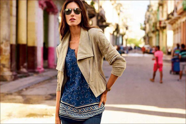 Betty Barclay: t-shirt, jeans broek, vest