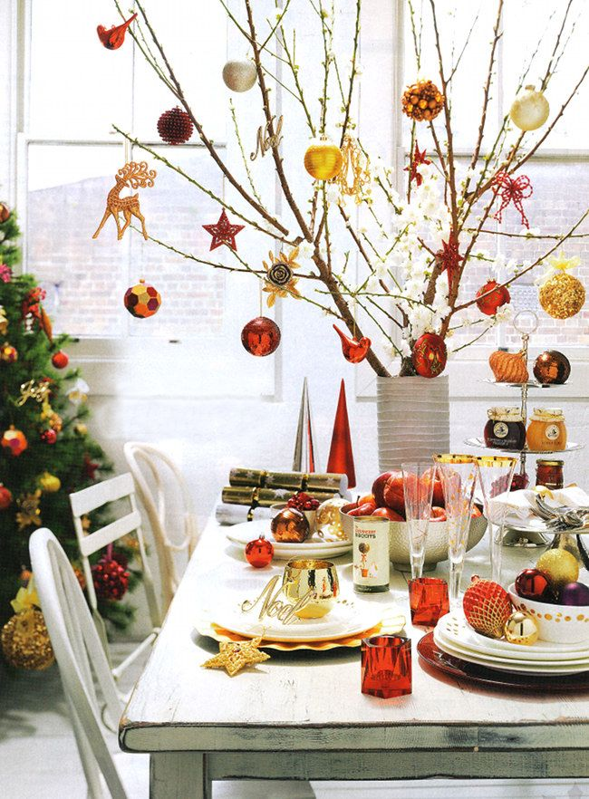 Happy Christmas party table