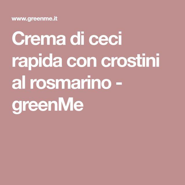 Crema di ceci rapida con crostini al rosmarino - greenMe