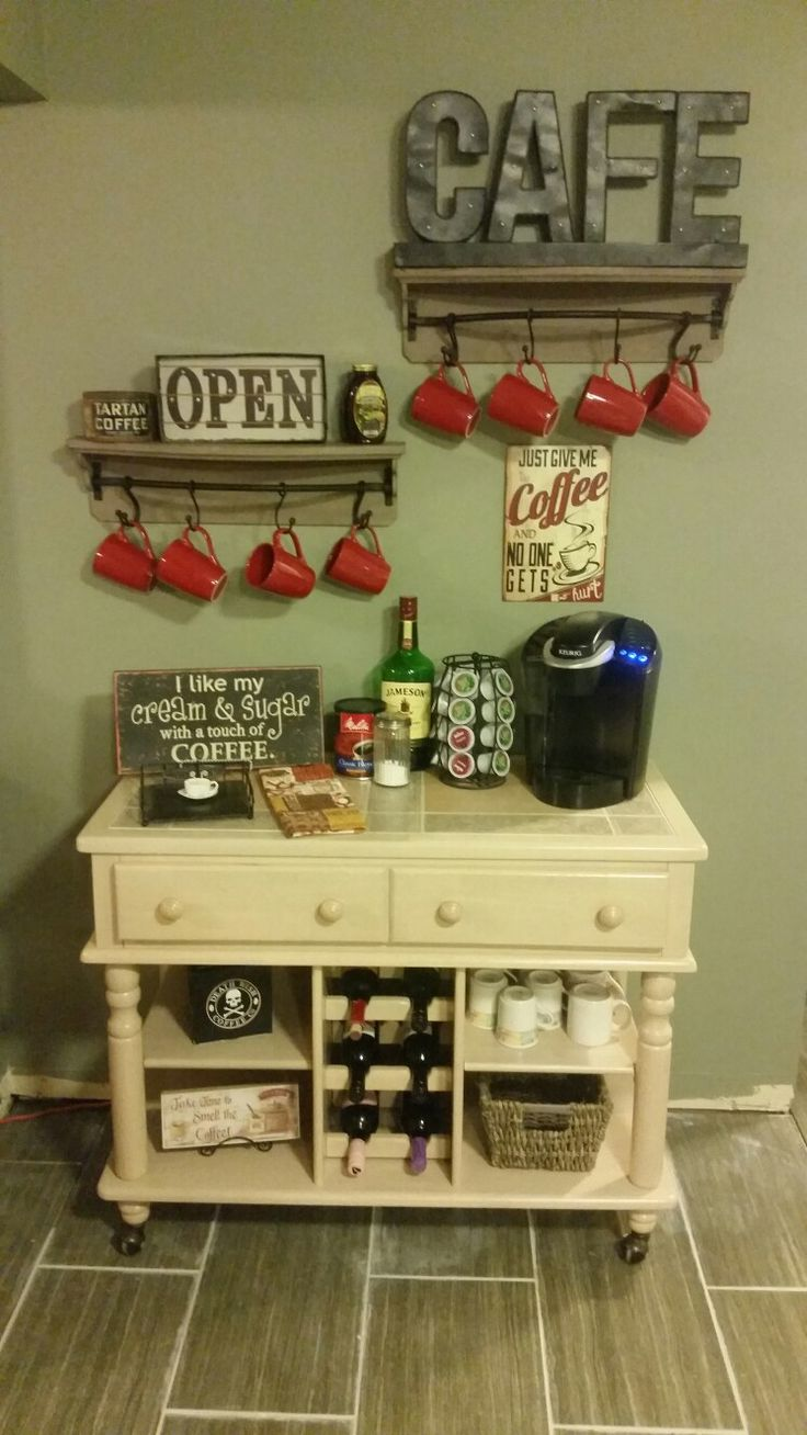 Best 25 coffee stations ideas on pinterest for Mini coffee bar