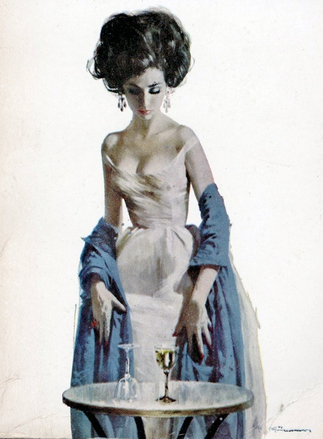 vintage illustration by Robert McGinnis