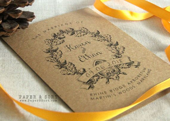 Vintage Rustic Wedding Program Pamphlet by PaperNSort #etsy
