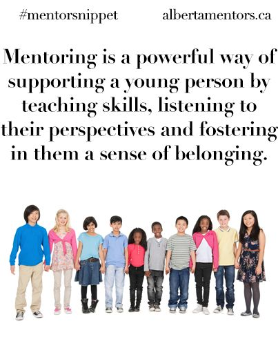 Mentoring is a powerful way of supporting a young person by teaching skills, listening to their perspectives and fostering in them a sense of belonging. Related
