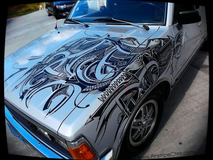Best Sharpie Cars Images On Pinterest Cars Sharpie Art And - Artist wife doodles husbands car