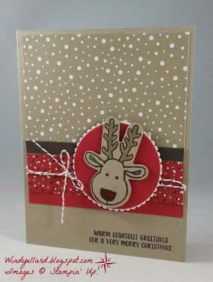 Windy's Wonderful Creations: Reindeer Christmas!, Stampin' Up!, Cookie Cutter Christmas, Cookie Cutter Builder punch, Candy Cane Lane DSP