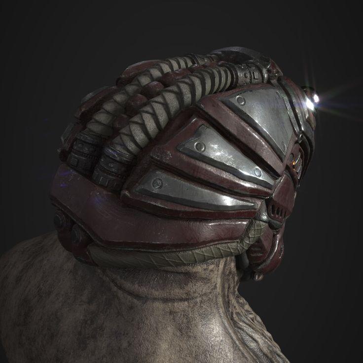 "ArtStation - BrooD Helmet ""bug"", Derek Carter"