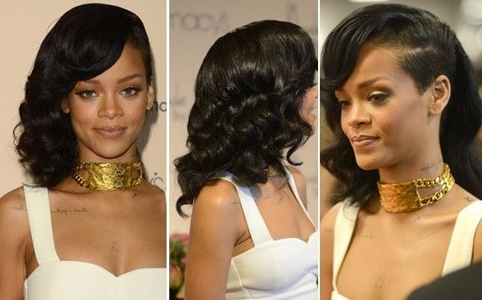 Special Bouncy Wavy Hairstyle: Rihanna Long Hair